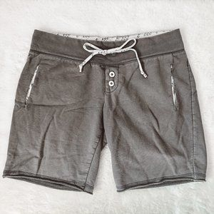 Converse Grey Soft Tie Bermuda Shorts Sz Small